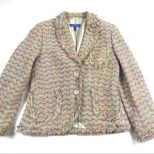Escada Sport Silk Blend Spring Tweed Blazer 38
